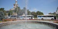 Манас аэропортунун автобустары. Архивдик сүрөт