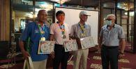 ИИМ генерал-майору Кемелбек Киязов Ысык-Көлдө өткөн Run the Silk Road эл аралык марафонунун алтын медалынын алды
