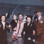 Семья экс-президента США Джорджа Буша в Техасе, 1948 год