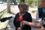 Супруга Рейхан Инанды на митинге сторонников Орхана Инанды у посольства Турциив Бишкеке