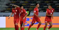 Футболисты сборной Кыргызстана во время матча. Архивное фото