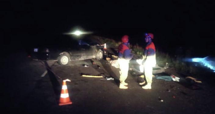 Авария в Жайыльском районе Чуйской области, на 152-м километре автодороги Бишкек — Ош.