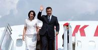 Мамлекет башчы Садыр Жапаров жана жубайы Айгуль Жапарова расмий сапар менен Түркиянын борбору Анкара шаарында