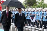 Президент Садыр Жапаров менен Түркиянын лидери Режеп Тайип Эрдогандын расмий жолугушуу аземи