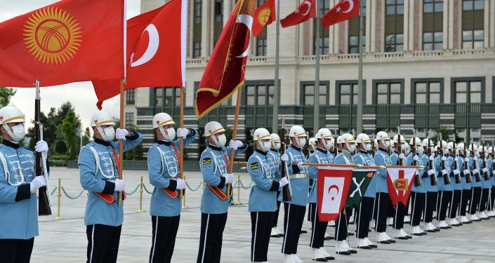 Церемония официальной встречи президента КР с президентом Турции. 09 июня 2021 года