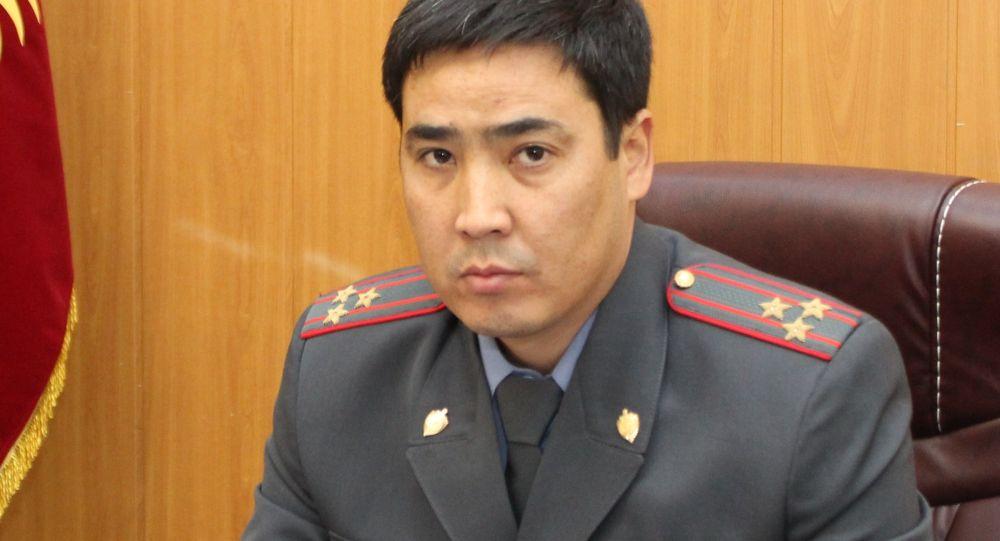 Чүй облустук милициясынын жетекчиси Самат Курманкулов. Архивдик сүрөт