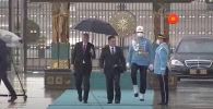 Түркиянын лидери Режеп Тайип Эрдоган президент Садыр Жапаров менен жолугушуу аземинин видеосун өзүнүн YouTube-каналына чыгарды.