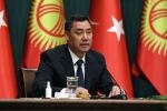 Президент Садыр Жапаров во время выступления в рамках официального визита в Турцию