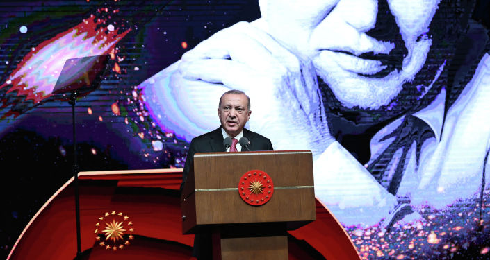 Президент Турции Реджеп Тайип Эрдоган принял участие в церемонии закрытия IV Международного Иссык-Кульского форума имени Чынгыза Айтматова, который проходил в г. Анкара. 09 июня 2021 года