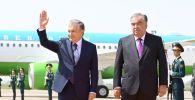 В международном аэропорту Душанбе президент РТ Эмомали Рахмон встретил президента РУ Шавката Мирзиёева в рамках официального визита в Республику Таджикистан.