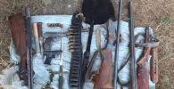 В Панфиловском районе Чуйской области обнаружен схрон оружия и боеприпасов