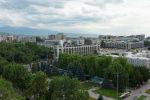 Вид на площадь Ала-Тоо в центре Бишкеке с высоты. Архивное фото