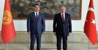Президент Садыр Жапаров бүгүн, 10-июнда, Анкара шаарында Түркиянын Улуу Улуттук Жыйынынын төрагасы Мустафа Шентоп менен жолукту