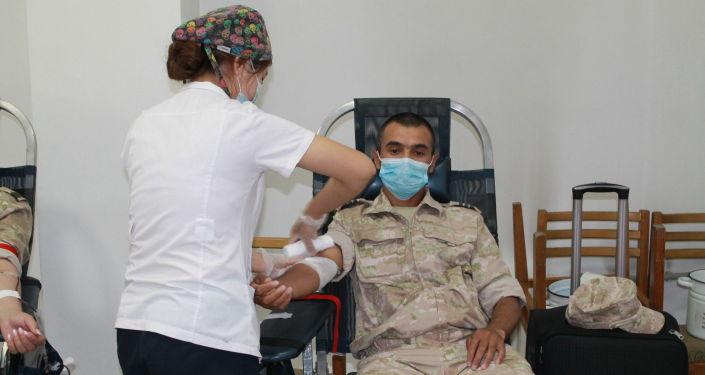 Военнослужащие авиабазы ОДКБ Кант сдали около 20 литров крови для нужд медицинских учреждений Кыргызстана
