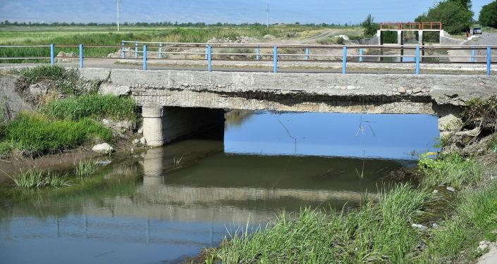 Западный Большой Чуйский канал в Панфиловском районе Чуйской области. 11 июня 2021 года