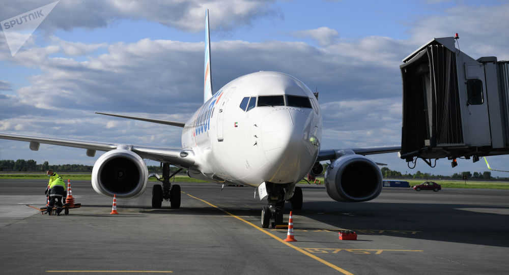Самолет Boeing-737-800 в аэропорту