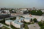 Площадь Ала-Тоо в Бишкеке с высоты. Архивное фото