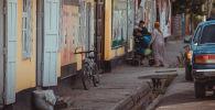 Жители одного из сел Баткенской области. Архивное фото