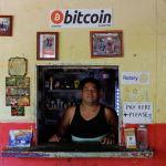 Магазин, принимающий биткоины, в Сальвадоре.