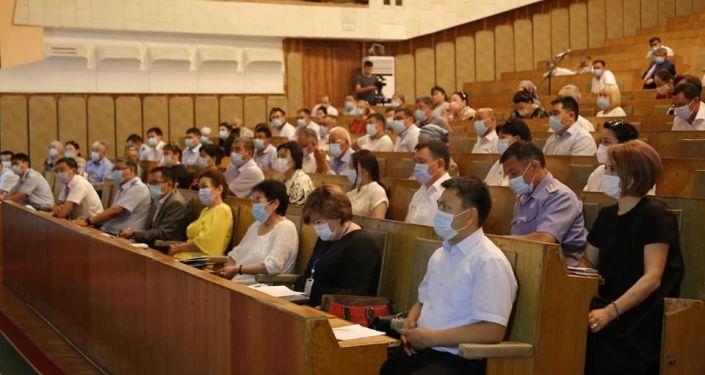 Заседание Штаба по подготовке к выборам депутатов городского кенеша в Оше