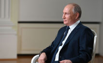 11 июня 2021. Президент РФ Владимир Путин отвечает на вопросы журналиста телекомпании NBC Кира Симмонса.