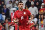 Нападающий сборной Кыргызстана по футболу Мирлан Мурзаев. Архивное фото