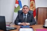 Председатель правления Национального энергохолдинга Асхат Бердиев в рабочем кабинете