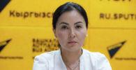 Старший инспектор отдела контроля за ККМ-онлайном Жаннат Абдыракманова на радио Sputnik Кыргызстан