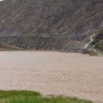 Водохранилище Камбаратинской ГЭС-2 в Джалал-Абадской области