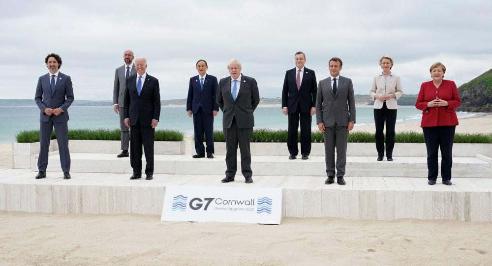 Саммит G7 в Великобритании в Карбис-Бэй, Великобритания. Архивное фото