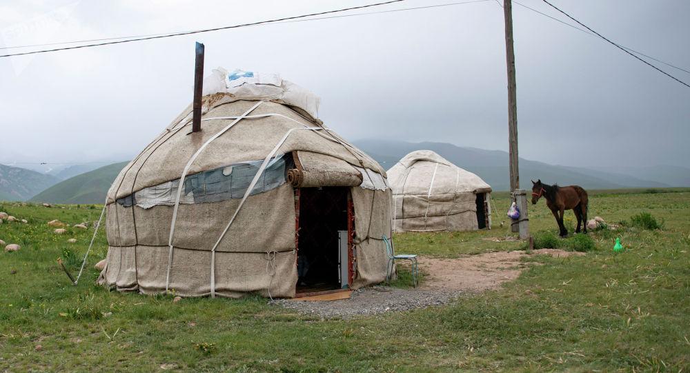 Юрты в Суусамырской долине. Архивное фото