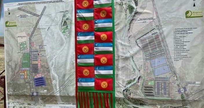 Проект логистического центра, строящегося в Ала-Букинском районе на границе с Узбекистаном