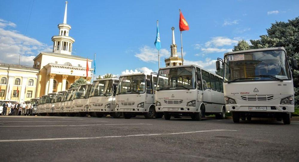 Выход на линию новых автобусов в Бишкеке