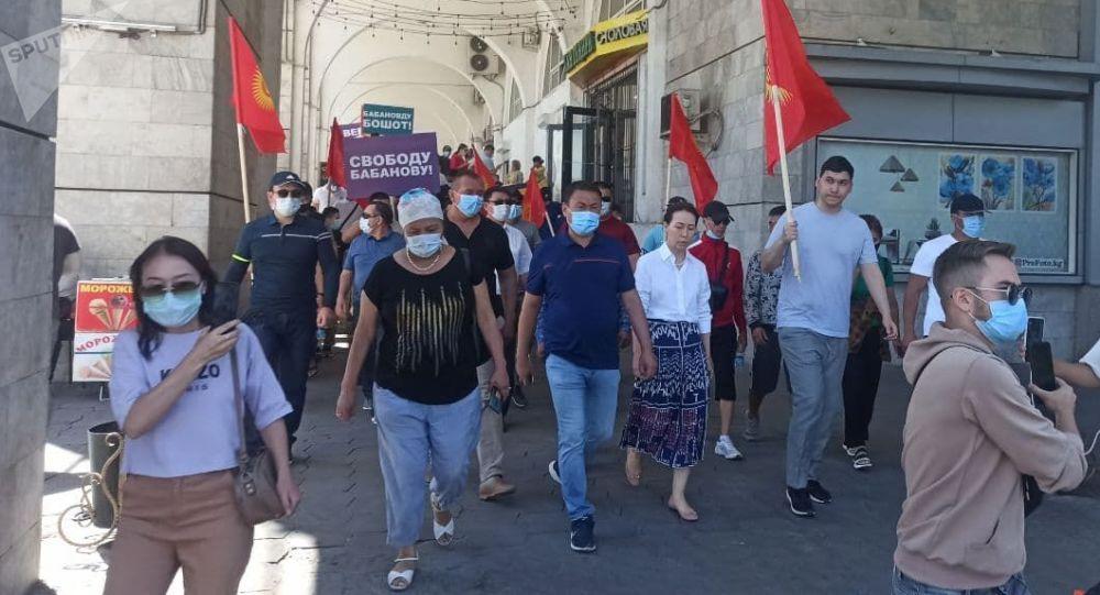Митинг сторонников Бабанова