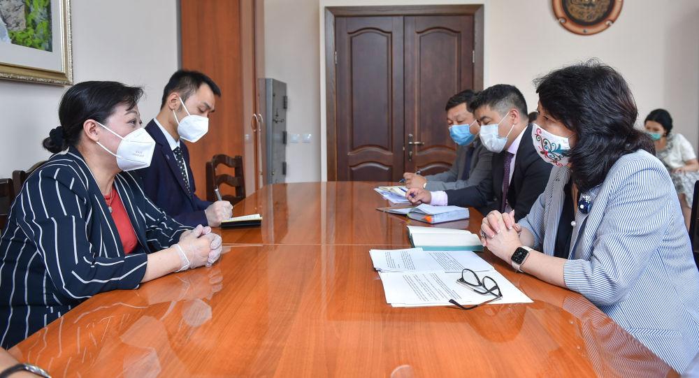 Министрлер кабинетинин төрагасынын орун басары Жылдыз Бакашова Кытайдын Кыргызстандагы элчиси Ду Дэвэнь менен жолугушу
