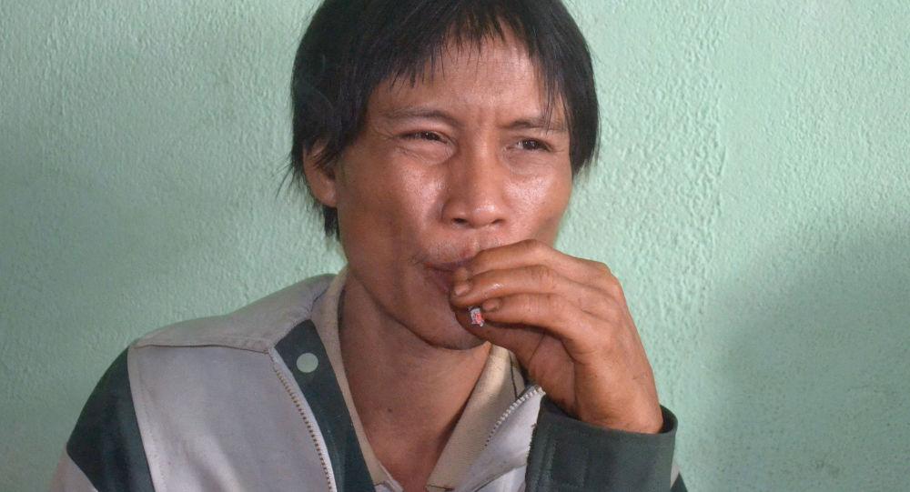 Кырк жыл токойдо жашап келген вьетнамдык Хо Ван Ланг. Архивдик сүрөт
