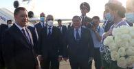 Президент Кыргызстана Садыр Жапаров прибыл в Таджикистан с официальным визитом. До этого он посетил Туркменистан.