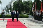 Состоялась церемония официальной встречи президентов Кыргызстана Садыра Жапарова и Таджикистана Эмомали Рахмона