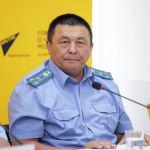 Начальник отдела координации транспортного контроля Агентства автотранспорта при Министерстве транспорта и коммуникаций Нурбек Капетов на брифинге в мультимедийном пресс-центре Sputnik Кыргызстан