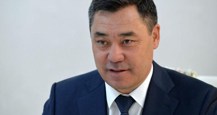 Встреча президента Кыргызстана Садыра Жапарова с министром национальной обороны Турции. 30 июня 2021 года