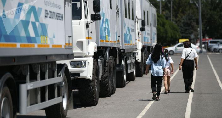 Мобильные медицинские комплексы (автопоезд), закупленные в рамках проекта Евразийского фонда стабилизации и развития Караван здоровья
