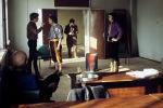 Актер факультетинин студенттери спектаклга даярданууда. Архивдик сүрөт