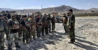 Афганские военные в Файзабаде, после того, как талибы недавно захватили районы провинции Бадахшан