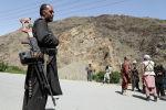 Парван провинциясындагы өткөрүү пунктунда Талибандын көтөрүлүшүнө каршы чыккан куралдуу адамдар