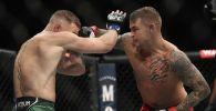 Дастин Порье против Конора МакГрегора на UFC 264 на T-Mobile арене в Лас-Вегасе (США)