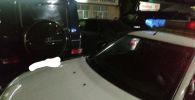 Автомобиль Gelandewagen, разъезжавший по пляжу Иссык-Куля