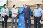 Передача новой партии продовольствия Всемирной продовольственной программе в Кыргызстане в поддержку проектов для оказания помощи нуждающимся
