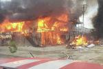 Пожар на рынке в селе Халмион Кадамжайского района Бактенской области