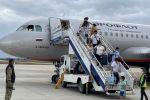 Ысык-Көл эл аралык аэропорту бүгүн, 15-июлда, Аэрофлот авиакомпаниясынын Москва — Тамчы — Москва жаңы каттамын салтанаттуу тосуп алды