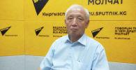 Председатель Союза строителей КР Аскарбек Молдобаев на радио Sputnik Кыргызстан